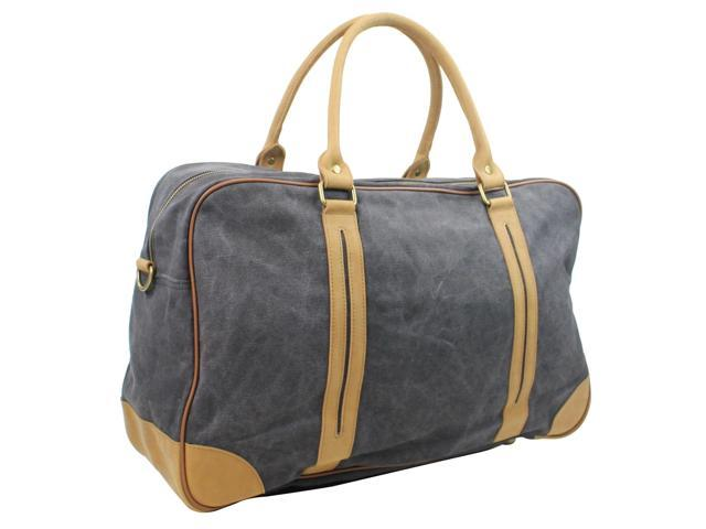 ad35b0686020 Vagabond Traveler Classic Large Canvas Duffle Travel Bag C77.GRY ...