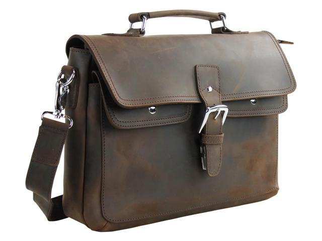 Vagabond Traveler Full Grain Leather Laptop Bag LM30.DS - Newegg ... fceaf3c65fc4f