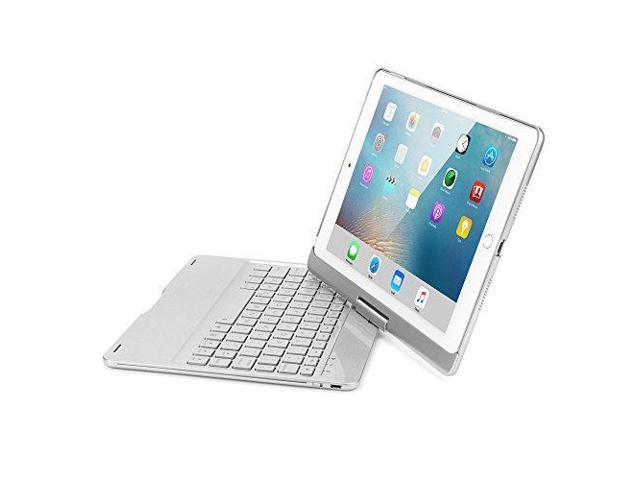 e0047880bd2 iPad Pro 10.5 Keyboard Case, KVAGO 360 Degree Rotatable Hard Shell Case  with Backlit Wireless