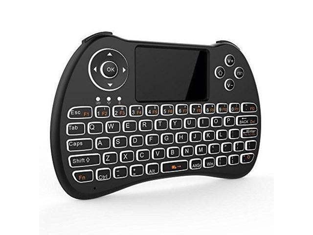 Tripsky H9 2 4GHz Backlit Mini Wireless Keyboard, Handheld Remote with  Touchpad Mouse for Android TV Box, Windows PC, HTPC, IPTV, Raspberry Pi,  XBOX