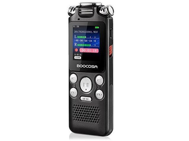 Voice Recorder ,BOOCOSA 8GB Digital Audio Recorder Multifunctional Three Microphone HD Stereo LCD Sound Recorder