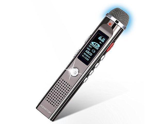 Digital Voice Recorder KINGTOP 8GB 1536kpbs PCM Voice Activated Dynamic  Noise Reduction Audio Sound Recorder Dictaphone 1a0a82c49d63