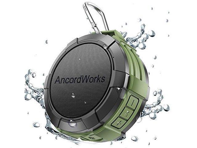 Ancordworks Bluetooth Shower Speaker Water Resistance 5w Driver 23 Hours Playtime With 8g Tf Card