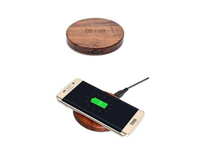 YUMUN Wood Wireless Charger Qi Wireless Charger Pad For Samsung Galaxy S8  S8 plus and Note/ Nexus 6 / LG iPhone 8 /iPhone 8 plus All Qi-Enabled