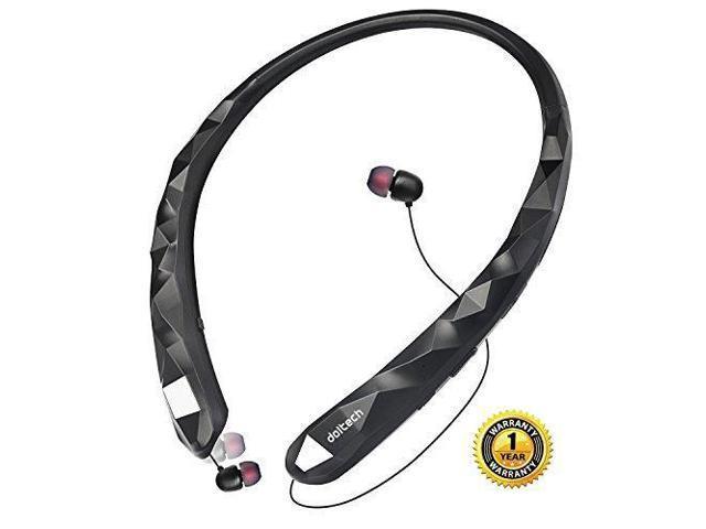 4468abda748 Bluetooth Headphones DolTech Wireless Headphones with Retractable Earbuds  Neckband Headset with Mic Sport Sweatproof Stereo Earphones