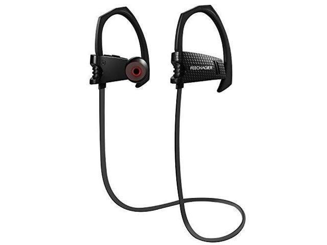 24062bb1f57 Bluetooth Headphones, Wireless Earbuds FEECHAGIER EQ9 Lightweight Heavy Bass  Noise Isolating with Microphones Flat Cord