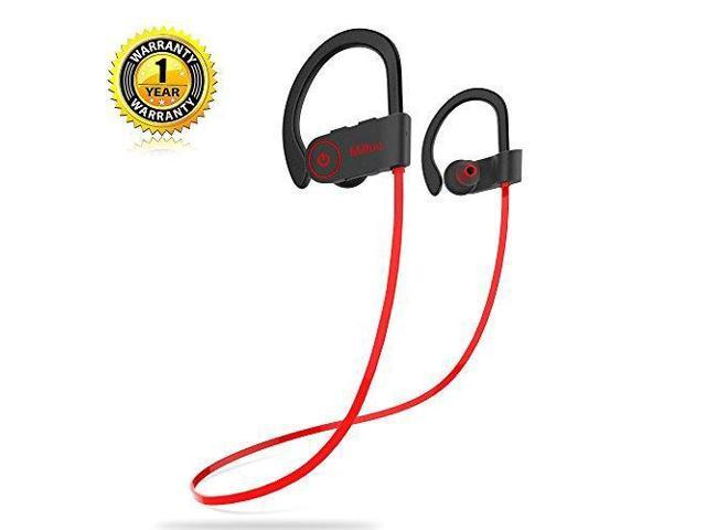 c3874c1c9d0 Bluetooth Headphones,Miltuu Wireless Sports Earphones in-Ear Earbuds IPX7  Waterproof with Mic Sweatproof Bass HD Stereo for Gym Running Workout 8  Hour ...