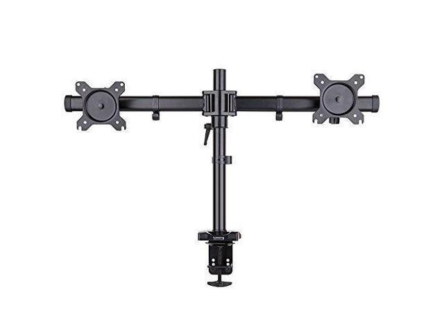Incredible Lumsing Dual Arm Adjustable Full Motion Tilt Swivel Lcd Led Monitor Desk Mount Bracket Stand For 15 27 Screens Vesa 75X75Mm 100X100Mm With C Clamp Home Interior And Landscaping Mentranervesignezvosmurscom