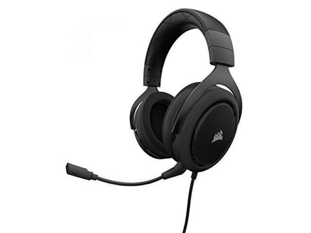 CORSAIR HS50 - Stereo Gaming Headset - Discord Certified Headphones - Works  with PC, Mac, Xbox One, PS4, Nintendo Switch, iOS and Android - Carbon -