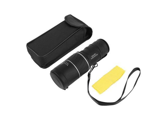 Optical monocular telescope support night vision coating