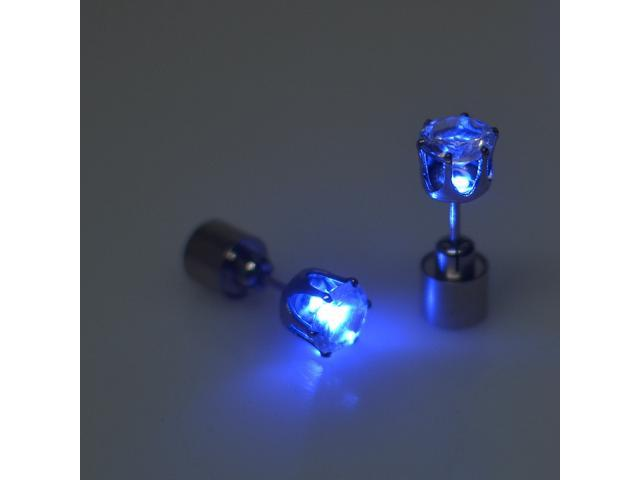 4 Pcs Fashion Led Earrings Glowing Light Up Diamond Earring Stud Newegg