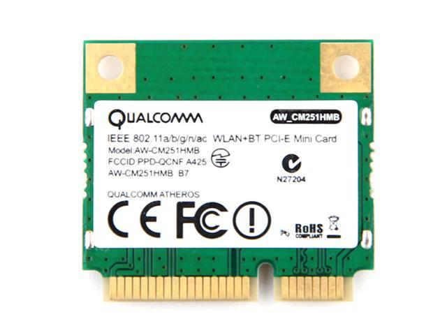 Dual Band Atheros WiFi Bluetooth Card 433Mbps Qualcomm AW CM251HMB  802 11a/b/g/n/ac 2 4/5G BT 4 0 Combo Wireless Mini PCI E Wlan - Newegg com