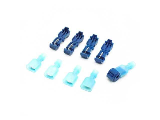 50PCS Suyep Self-Stripping Electrical T-Tap Wire Spade Connectors 16 ...