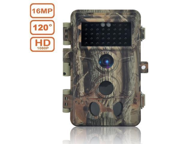 DIGITNOW! Trail Camera 16MP 1080P HD Waterproof, Wildlife Hunting Scouting Game Camera with 40Pcs IR LED Infrared Night Vision Up to 65FT/20M, Surveillance Camera 120° Wide Angle