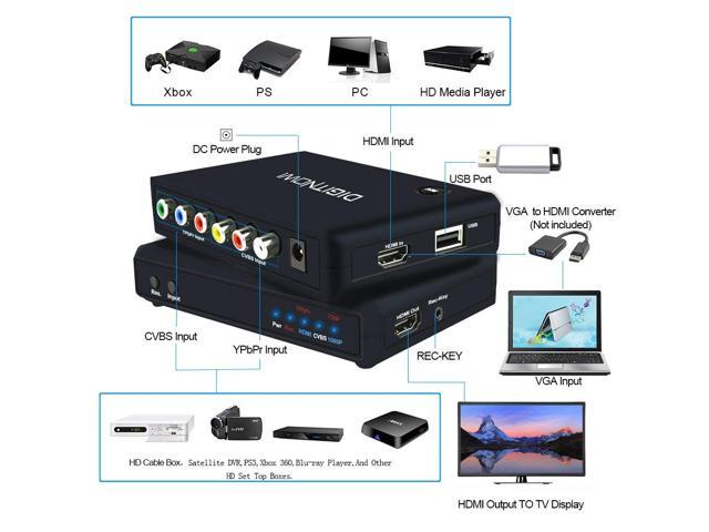 DIGITNOW!HD Game Capture /HD Video Capture Device, HDMI Video  Converter/Adapter Recorder for PS4, Xbox One / Xbox 360,LiveTV,PVR DVR and  more,Support