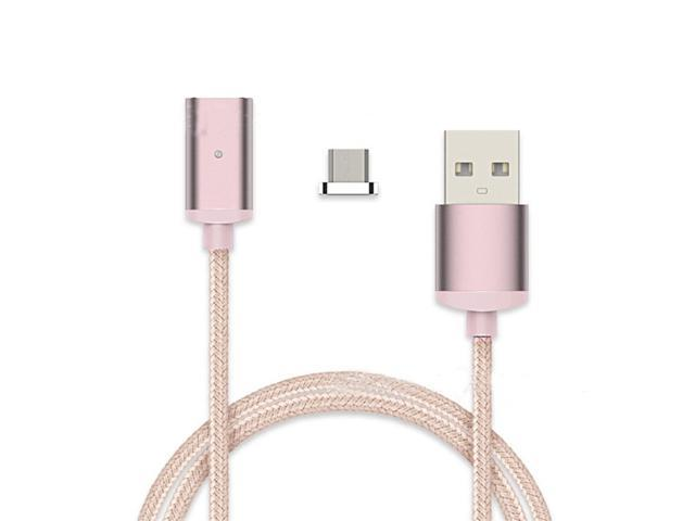 Original Nylon Braided Fast Charging USB Cable Metal Magnetic Micro to Charging Cable For Iphone Samsung Android Tablets
