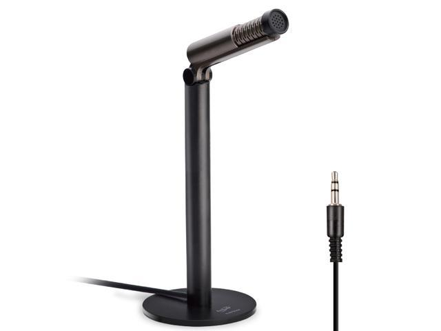 E-books B044 Noise-Canceling Adjustable Desktop Microphone Build in 3 5mm  Jack for Home Studios Podcasters YouTubers Musicians Vocal Music Recording