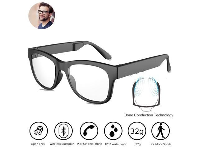 64abffb389 Bone Conduction Bluetooh4.1 Headphones Glasses Polarized Sunglasses  Waterproof Wireless Music MP3 Player Headset HandFree