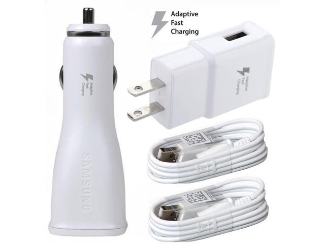 For BlackBerry Leap Adaptive Fast Charger Micro USB 2 0 Cable Kit! [Car &  Home Charger + 2x Micro USB Cable] Adaptive Fast Charging uses dual  voltages