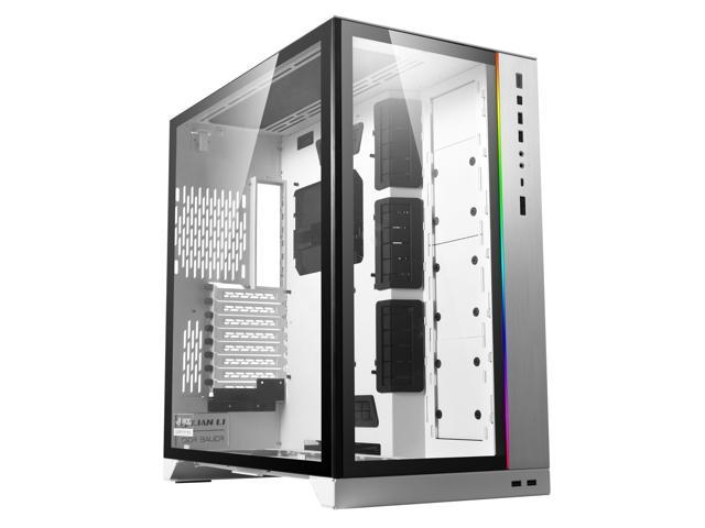 LIAN LI O11 Dynamic XL ROG certificated -White color ---Tempered Glass on the Front, and Left Side. E-ATX ,ATX Full Tower Gaming Computer Case---O11D XL-W