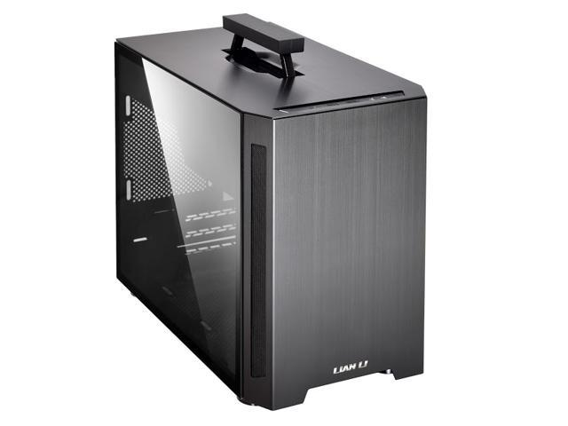 LIAN LI TU150 Aluminium  tempered glass  ITX case -Black Color -TU150WX