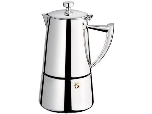 Cuisinox Roma 10 Cup Moka Espresso Stovetop Coffeemaker In Stainless Steel