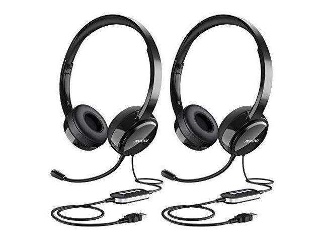 Mpow (2-Pack) USB Headset  3.5mm Computer Headset with Microphone Noise 92481205fe