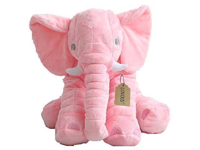 Lovous Super Soft Cute Big Stuffed Elephant Plush Doll Baby