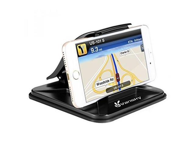 best loved 9e3f5 43cad Phone Holder for Car, Vansky Dashboard Car Phone Mount iPhone 7 Plus X 8  Plus 6 6S Plus, Non-Slip GPS Holder Car Cradles for Samsung Galaxy S8 Plus  ...