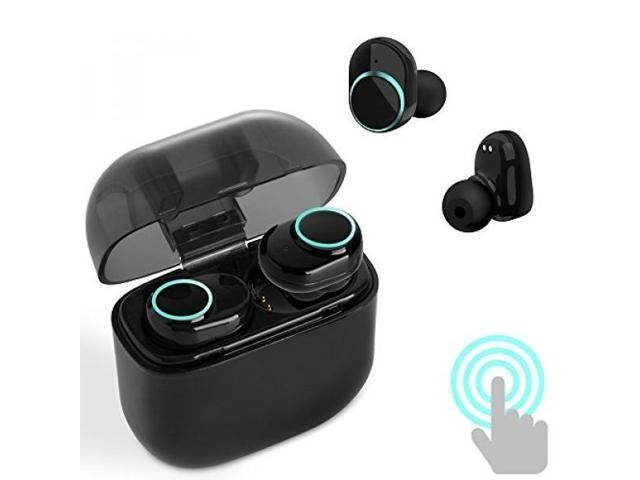 eff9a1e3999 True Wireless Earbuds, Bluetooth 4.2 Earphones TWS Touch Control Mini In-Ear  Headsets with