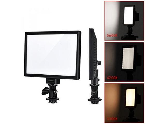 Viltrox L116t Ra Cri95 Super Slim Led Light Panel 3300k 5600k Led Video Light Lcd Display Screen With Hot Shoe Ball Mount Color Temperature And