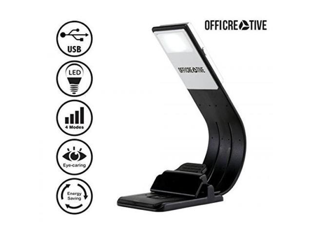 Officreative Flexible Kindle Book Reading Led Light 205 X 23 X 47 Mm Black Colored Portable Night Lamp A Unique Gift For Readers