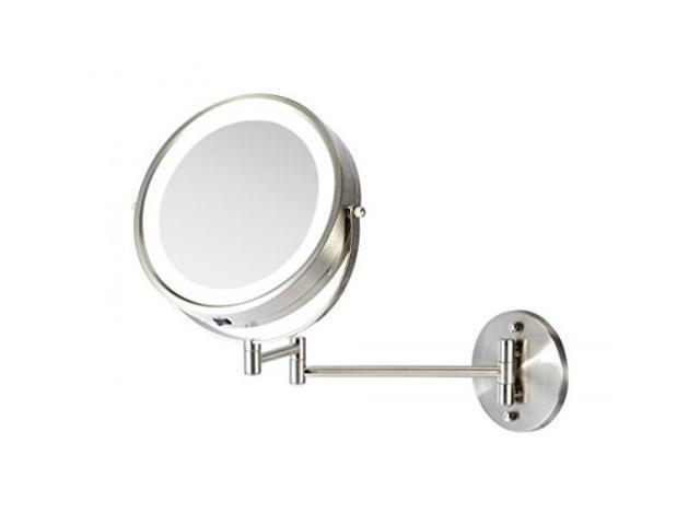 Almm Ovente Wall Mount Makeup Mirror Operated Led Lighted 1x