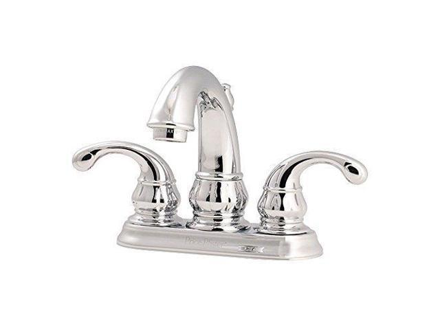 7 Faucet Finishes For Fabulous Bathrooms: Pfister LF048DC00 Treviso 2-Handle 4 Inch Centerset