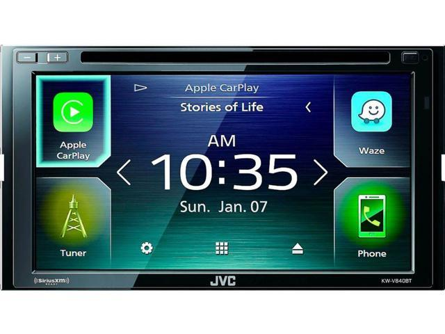 Jvc 6 8 Android Auto Apple Carplay Built In Bluetooth In Dash Cd Dvd Dm Receiver Black Newegg Ca