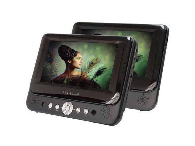 Proscan 7-Inch Dual Screen Portable DVD Player with USB/SD Card Reader, Car  Mounting Kit - Newegg ca