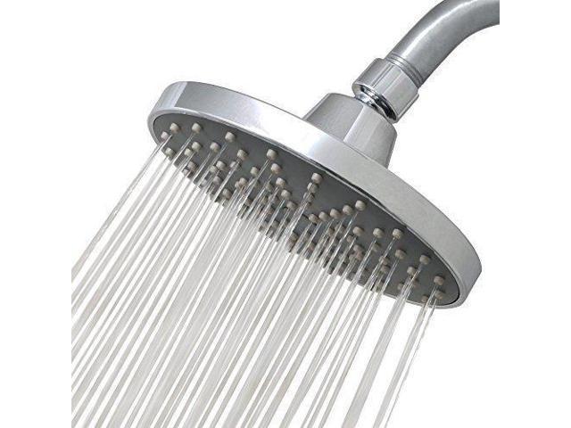 Rain Flow Shower Head.6 Round Chrome Rainfall Shower Head Replacement Ultimate Overhead Waterfall High Pressure High Flow For Your Bathroom Rainluxe Newegg Ca
