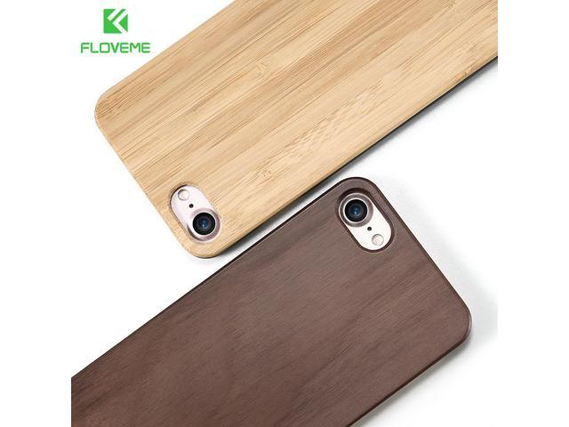 Floveme For Iphone 5 5s 6 6s 7 Retro Real Wooden Phone Case Capa For Apple Iphone 7 6 6s Plus X 10 Se Bamboo Cover Bags Coque Neweggcom