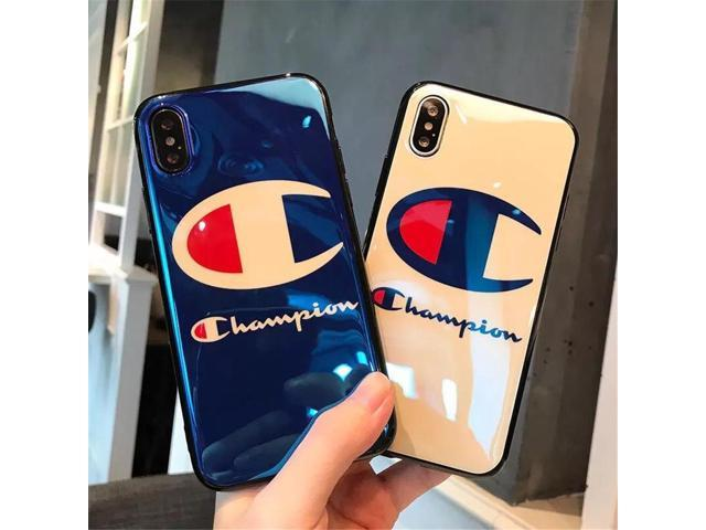 c2e72a501c7 Fashion Champion Brand Blu Ray IMD Phone Case for IPhone X 8 Plus Smooth  Pattern for Iphone 6 6S 7 Plus Case Soft TPU Back Cover