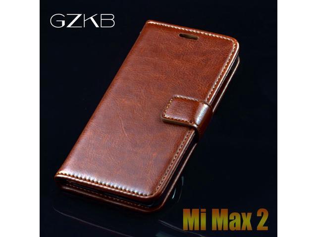new style f57da 99e93 For Xiaomi Mi Max 2 Case GZKB Original Luxury Leather Flip Case For Xiaomi  Mi Max2 Business Cover Wallet Phone Bags Case 6.44'' - Newegg.com