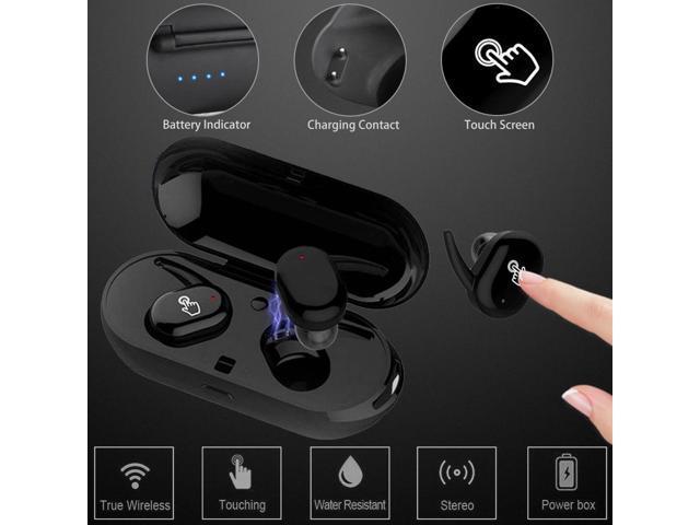 8ef82251873 TWS Mini Bluetooth Earphone Waterproof Touch True Sport Wireless Earbuds  Earpiece headset headphone with Power Storage
