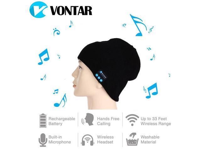 34965c5c419 VONTAR MK-1 MK-2 Wireless Bluetooth headphones Music hat Smart Caps Headset  earphone