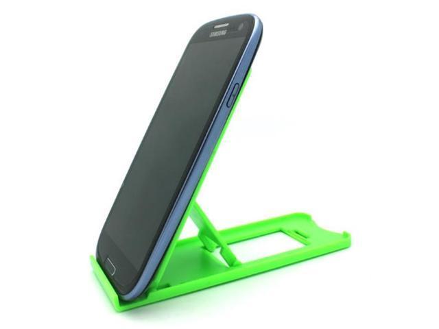 Green Compact Portable Fold-up Stand Desktop Mini Holder for LG G Pad F 8 0  X8 3, G5 G6 G7 ThinQ, Stylo 3, V20 V30 - Motorola Droid Turbo 2, Moto Z