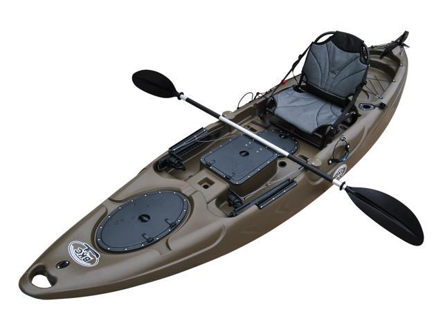 BKC UH-RA220 11-Foot 6-inch Angler Sit On Top Fishing Kayak with 2-  Paddles, 1-Upright Seat and Rudder System Included - Newegg com