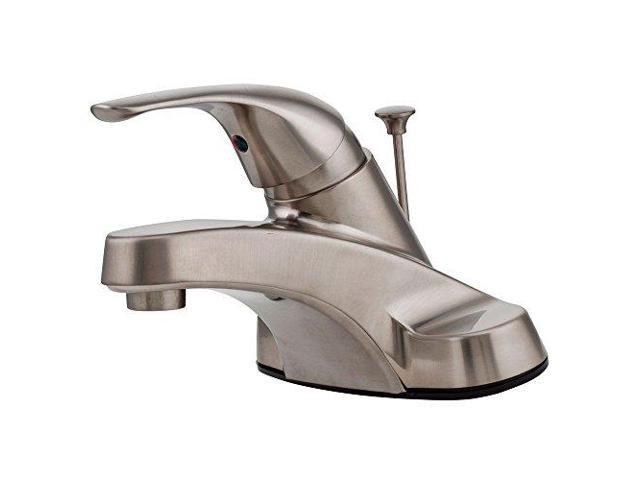 7 Faucet Finishes For Fabulous Bathrooms: Pfister LG142800K Pfirst Series Single Control 4 Inch