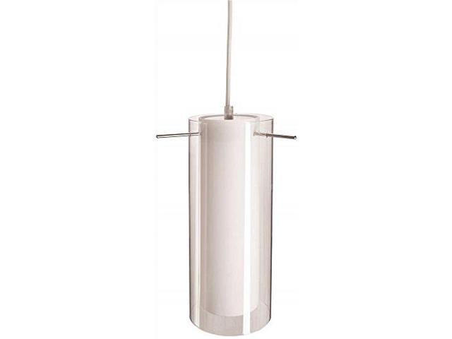 Monument Lighting 617091 Decorative 4 Light Vanity Fixture: PENDANT FIXTURE WITH WHITE AND CLEAR GLASS BRUSHED NICKEL