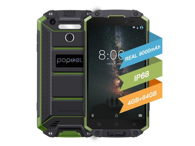 China 2018 New Ip68 Waterproof Rugged Smartphone Unlocked 4g Poptel P9000 Max 64gb Rom 4gb
