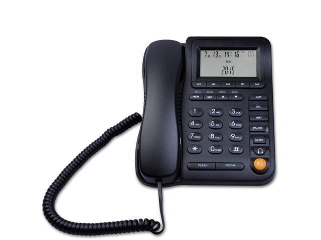 KerLiTar P017B-J Home Office Corded Phone with Headset Jack Desk Landline  Telephone with Call ID Speakerphone - Newegg com