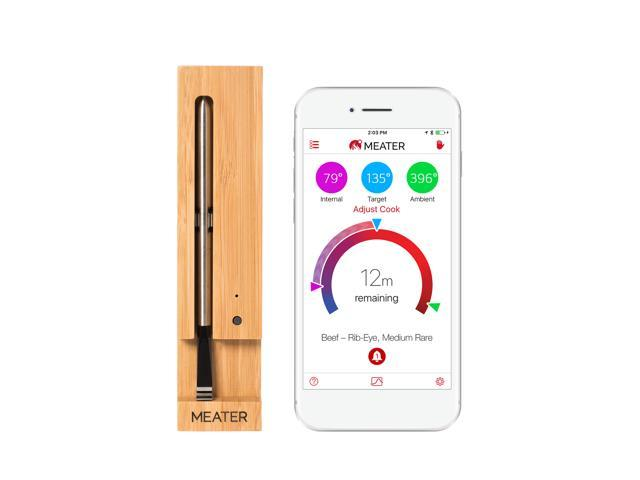 MEATER Bluetooth Smart Wireless Meat Thermometer with Internal and Ambient Sensors for Consistent Results - Amazon Alexa compatible