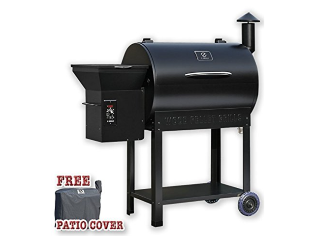 Zgrills ZPG 7002B Wood Pellet BBQ Grill U0026 Smoker With Patio Cover,700  Cooking